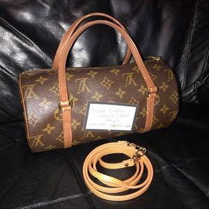 Louis Vuitton Papillon26 HandLeatherShoulder Bag